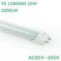 FedEX Free Shipping 50pcs/lot 20W 1200MM T8 LED Tube Light high bright led bulbs SMD3014 10-12LM/PC 176led/PC 2000LM AC85-265V