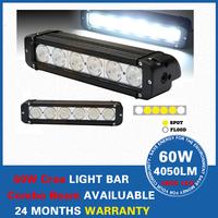 "11"" 60W Cree LED Work Light Bar 4050LM Spot Flood Offroad Minging Boat SUV ATV Lamp,Factory Wholesale Led Car Lights Lamp"