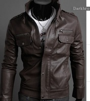 avirex leather jackets motorcycle leather jackets for men leather zipper jacket men outdoor designer clothes Black ,Brown  A053