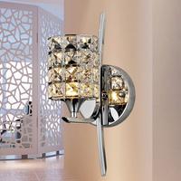 2014 Freeshipping Foyer Lamps For Home Modern Abajur Brief K9 Modern Crystal Wall Lamp Bed-lighting Mirror Light Stair Frha B2