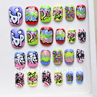 nail art false nail artificial nails short nails nail decorations  handmade diy accessory