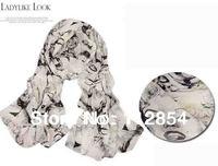 Free Shipping+Wholesale Bohemia Chiffon Scarf Neck Kerchief Marilyn Monroe Scarf Wrap Size 170x60cm,200pieces/lot