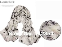 Free Shipping+Wholesale Bohemia Chiffon Scarf Neck Kerchief Marilyn Monroe Scarf Wrap Size 170x60cm,200pieces/lot