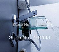Wall mount chrome finish Waterfall Bathtub Faucet Bath Basin Mixer tap LJ-8002-2