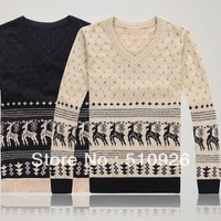 New man han edition bump fawn color sweater turtleneck sweater 2111