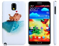 Cat Kissing Fish Print Plastic Case for Samsung Galaxy Note 3/N9000/N9005  LMS-1498D