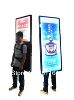 led walking board backpack led display with rechargeable battery