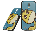 Ultra-thin frosted cartoon coloured drawing or pattern case for samsung s4 mini i9192 case,free shipping