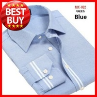 2013  Men's  4  Colors    Big Size (M- 5XL)  Fashion Casual  Oxford   Long-sleeve Grids Shirt     ANJX001