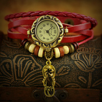 2013 women weave leather sandals pendant watch of wrist of fashion watches