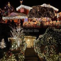 4pcs/lot NEW year White 10M 100 LED Festival Lights Decorative Christmas Party Twinkle String Lamp Bulb 110V US TK1123