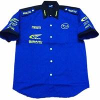 F1 automobile race clothing SUBARU short-sleeve shirt embroidery c069
