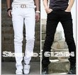 Hot! Free shipping  M -XXL  2014 new men's trend pants solid slim fashion all-match  trousers/pants no belt social business