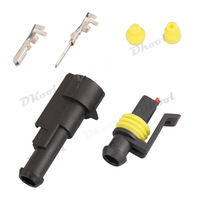 10 sets Kit 1 Pin Way Waterproof Electrical Wire Connector Plug
