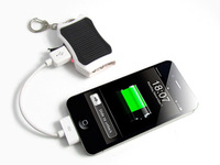Small silicon solar mobile power universal mobile phone charging treasure key pendant compact mini power bank