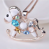 Exempt postage Korean sweater chain wholesale Korean female models Trojans grade opal crystal necklace long sweater chain