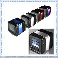 1pc Free Shipping USB FM Radio Bluetooth Speaker Mini TF card reader for apple ipad iphone & Android Wireless speaker SPE-18BT