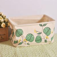Storage yield linen cloth storage bag leaves home  storage boxes storage box   zakka debris