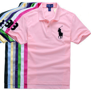 big horse logo, new 2013 autumn-summer brand shirt, sleeve t-shirt, men polo shirt,(China (Mainland))
