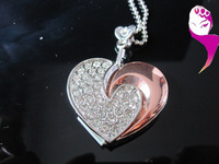 Free shipping Wholesale Jewelry Heart Moon of Love Gift USB Flash Memory Drive Creative U disk.usb flash drive.100%real capacity