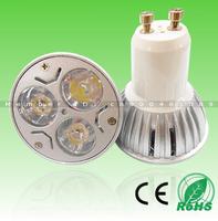 12pcs Free Shipping! 3X1W Epistar LED CHIP 330lm AC85-265V/12V E27/GU10/MR16 Aluminum CE RoHS LED Spotlight