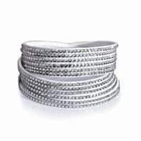 High Quality Cool Crystal Bracelet New Design Rhinestone Ribbon Bracelet for Women Jewelry Cheap Fashion Accessories3pcs/lot