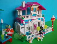 ORIGINAL PACKING New Arrival restaurant  552 pcs princess  building blocks christmas gift for girls birthday gift for girl
