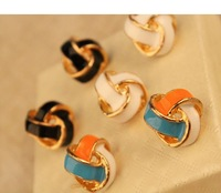 Korea Hot small jewelry spiral  triangle drip earrings earrings earrings new female C204
