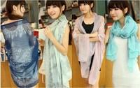 On Sale Women's Fashion Print scarf Chiffon scarfs fashion style designer 2013 High Quality Women Summer bandelet Free Shipping