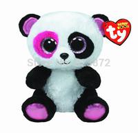 Free Shipping New TY Beanie Boos Panda Plush Toys 15cm Ty Big Eyes Ty Plush Animals Small Toys Kids Toys for Children