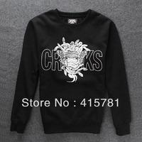 2013Autumn New Fashion crooks Sweatshirt male outerwear o-neck thickening fleece sweatshirt men sport cotton coat plus size