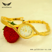 Swiss watch a small woman with a gold diamond bracelet Tyrant delicate ladies fashion luxury watches