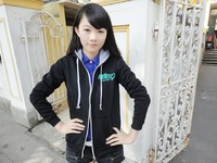 Free shipping Anime Miku Hatsune Top Vocaloid Cosplay Woman Cotton Pullover Hooded   Costume