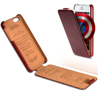 New Arrival Vintage Crazy Horse Flip PU Leather Case for iPhone 4 4S Luxury Phone Cover 6 Colors YXF0027