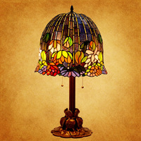 New 16-inch Tiffany lamp classic American art of decorative lamps living room lamp bedroom lamp water lily HOT FREE SHIPPING
