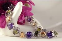 Luxury beautiful lady birthday  wedding gifts, plating 18 kt AAA zircon bracelets AS244