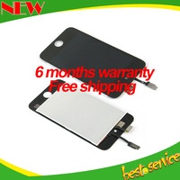 free shipping touch screen glass digitizer for ipod touch 4 4th iTouch lcd assembly replacement black and white color wholesale