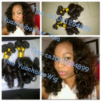 "Big sale 6a quality 3pcs/lot #1b virgin brazilian human hair Aunty Funmi hair free shipping 10""-30"" Mixed length"