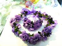Multicolor Bridal Garland Wedding Wreath Flower Girl Flower Wedding Wreath Rose Bride Accessory Artificial