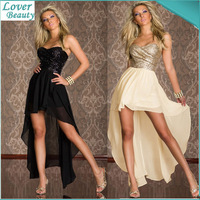 New 2015 Bandage Dress Black/Gold Sequined Strapless Vestidos Sexy Club Dress Bohemian Novelty Dresses Elegant Party Dresses