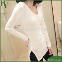 E009 Wholesale Womens Fashion Tops 2013 Autumn European New Style Woman Modal Cotton Long Sleeve Basic T Shirts