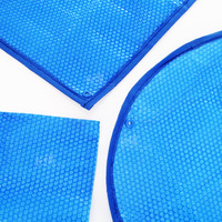 Swimming pool accessories 400 micron blue solar spa pool cover customized shape and size from MOQ 1 SET cover for pools