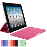 Tablets Covers Protect for iPad2 for iPad3 for iPad4 Leather Case Micro-fiber Inside Smart Wake up /Sleep Cover Free Shipping