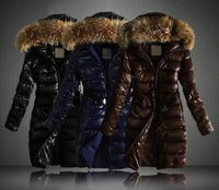2013 Winter New Women Thick Full Long Fashion Down With Cap