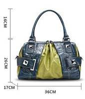 Free shipping  PU leather shoulder bag handbag female bag with the size 36*26*16CM free shipping