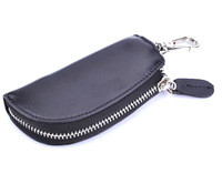 BigBaBa Black genuine leather key wallet arc male genuine leather key wallet keychain car genuine leather key wallet