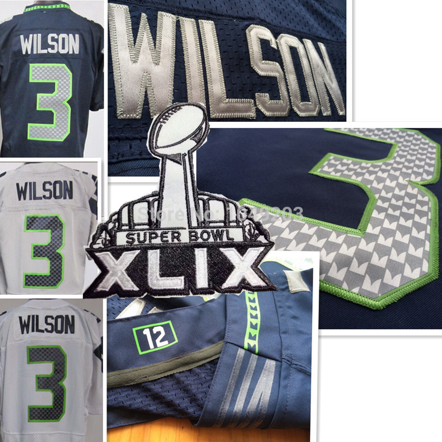 Russell Wilson Jersey White,Green,Blue,Grey Elite,Stitched,Seattle Mixed Order Accept Size M L XL 2XL 3XL(China (Mainland))