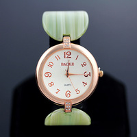 The new 2013 fashionable woman color acrylic ring alloy chain strap watch watch/free shipping