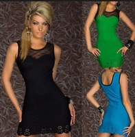 new spring summer arrival 2014 bodycon lace clearance sexy tunic elegant mesh tulle fashion casual chiffon sleeveless mini black