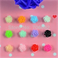 120pcs/pack 3D Colorfull Resin Rose Nail Art Beads Stickers Tips DIY Decorations